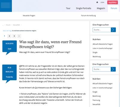 Screenshot Onlineforum