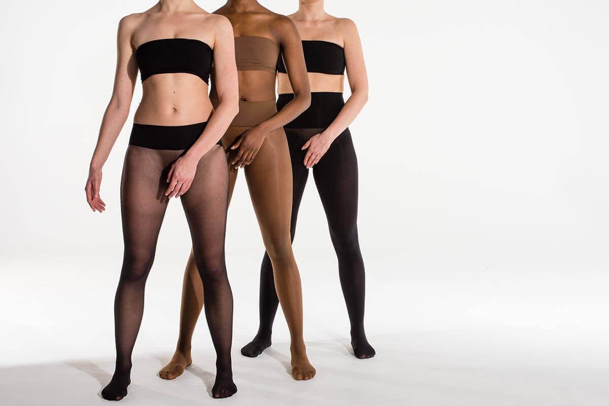 Drei Frauen in Heist Strumpfhosen