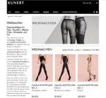 Screenshot der Homepage des Kunert Onlineshops