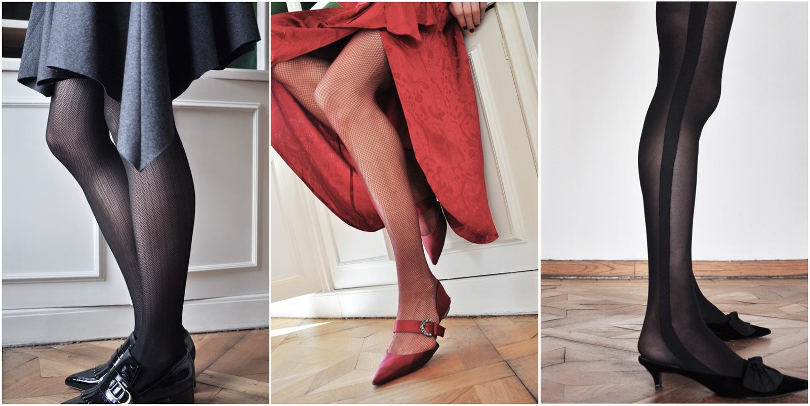 Drei Strumpfhosenmodelle von Swedish Stockings