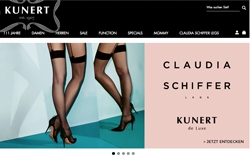 Screenshot Kunert Claudia Schiffer Kollektion