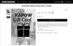 Screenshot Kapow Meggings Geschenkkarte