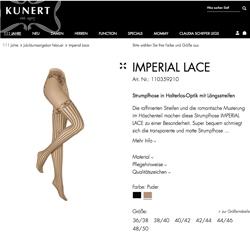 Jubiläumsangebot Imperial Lace Strumpfhose