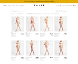 Screenshot Falke Rabattaktion