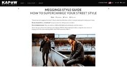 Screenshot Kapow Meggings Style Guide
