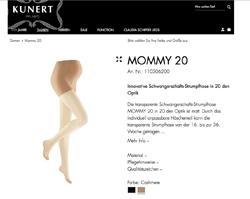 Screenshot Kunert Mommy 20 Strumpfhose