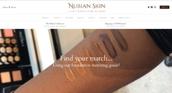 Screenshot Nubian Skin Homepage
