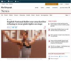 Screenshot The Telegraph
