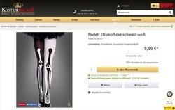 Screenshot zweifarbige Skelett-Srumpfhose