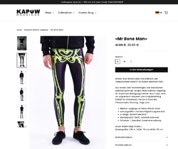 Screenshot Kapow Meggings Shop