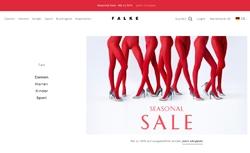 Screenshot Falke Seasonal Sale