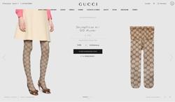 Screenshot Gucci Strumpfhose mit GG Muster