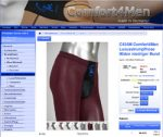 Screenshot Comfort4Men Strumpfhose mit 90 DEN in Bordeaux