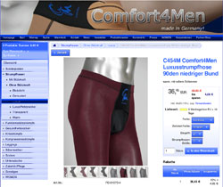 Screenshot Comfort4Men Strumpfhose mit 90 DEN in Bordeaux