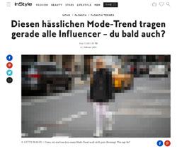 Screenshot instyle.de Frau mit weißer Strumpfhose