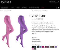 Screenshot Kunert Velvet 40 Strumpfhosen