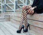Beine in eine aufregenden Strumpfhose