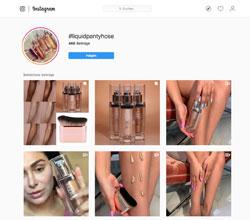 Screenshot Liquidpantyhose auf Instagram