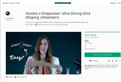 Screenshot Kickstarter Sheertex Sheers