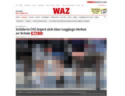 Die WAZ Herne berichtet über ein Leggings-Verbot