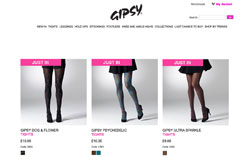 Gipsy Tights Screenshot mit drei Strumpfhosen