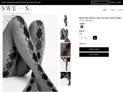 Kristina Argyle heißt eine neue Strumpfhose mit Rautenmuster von Swedish Stockings.