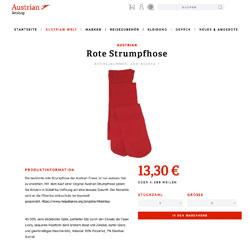 Die rote Strumpfhose der Austrian Airlines