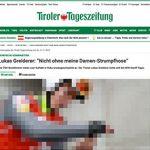 """Österreichischer Sportler trägt """"Damenstrumpfhosen"""""""