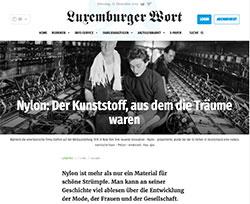 Screenshot Nylon Geschichte im Luxemburger Wort