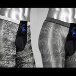 Schwarzweiße Strumpfhosen für Männer