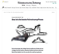 Feinstrumpfhosen-Test in der Süddeutschen