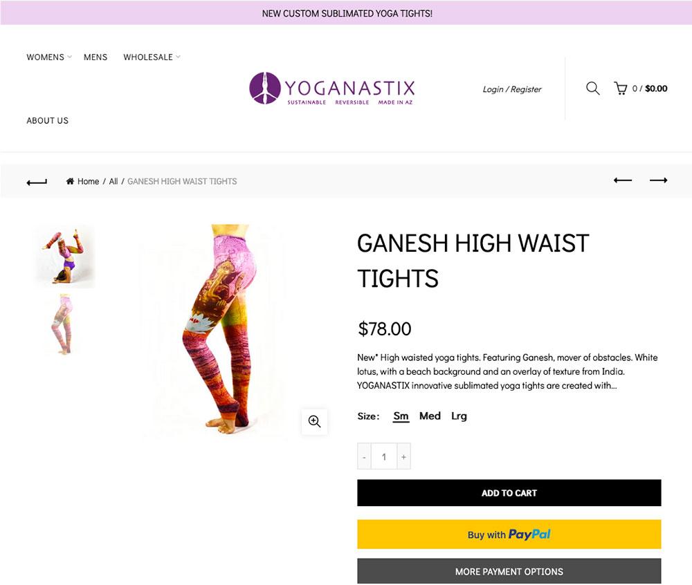 Ganesha Motiv auf Leggings