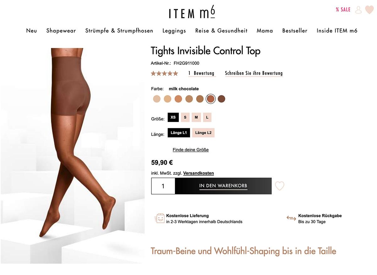 Screenshot item m6 Tights Invisible