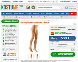 Hautfarbene Strumpfhose bei Kostüme.com