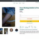 Komplett biologisch abbaubare Rautenstrumpfhose