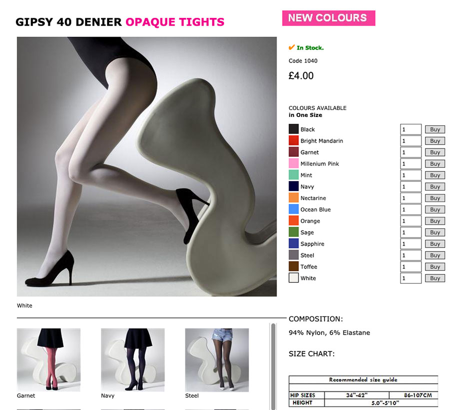Screenshot Gipsy Tights 40-DEN-Strumpfhosen