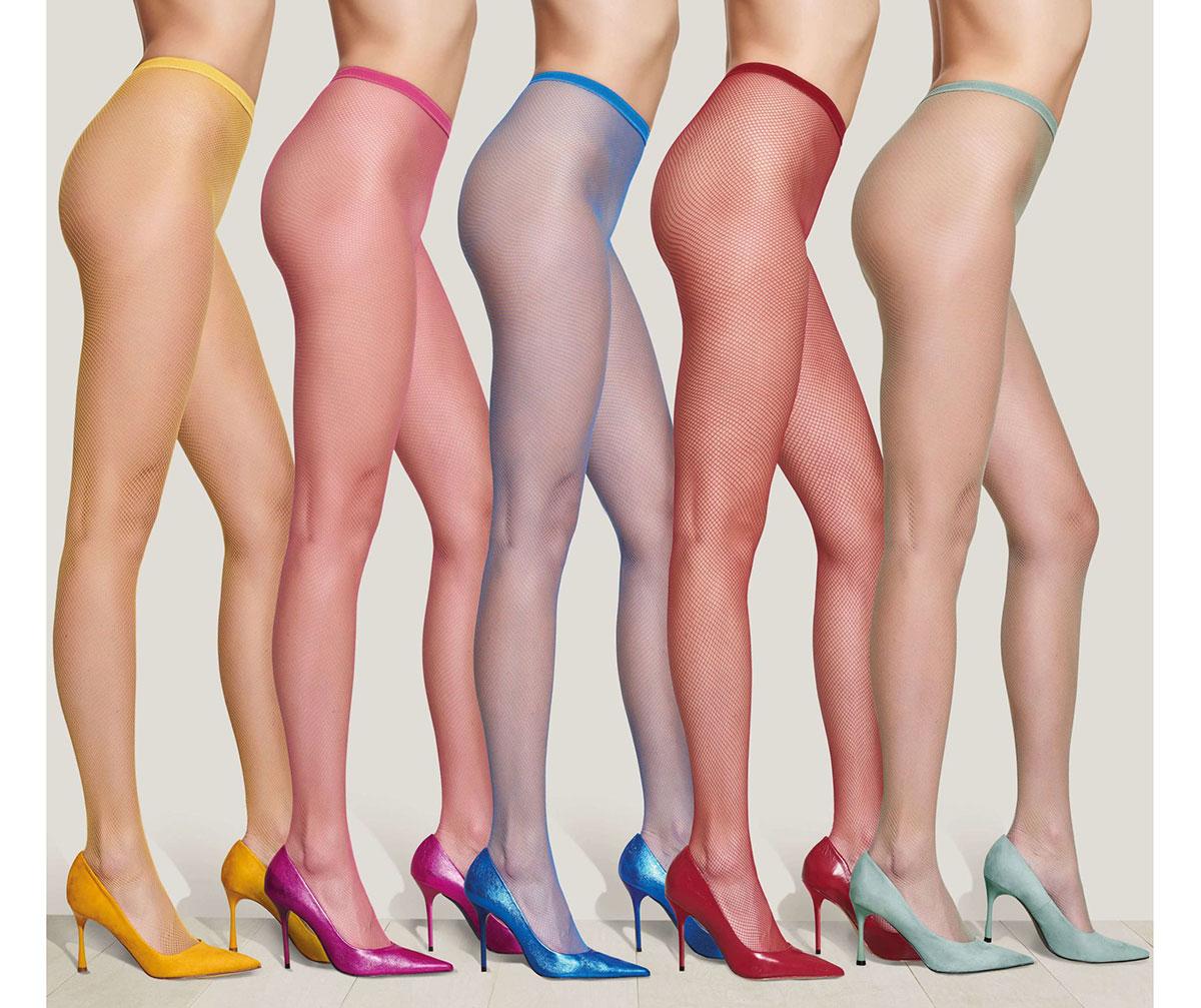 Netzstrumpfhosen von Trasparenze in fünf Farben