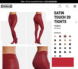 Wolford Satin Touch 20 in rot