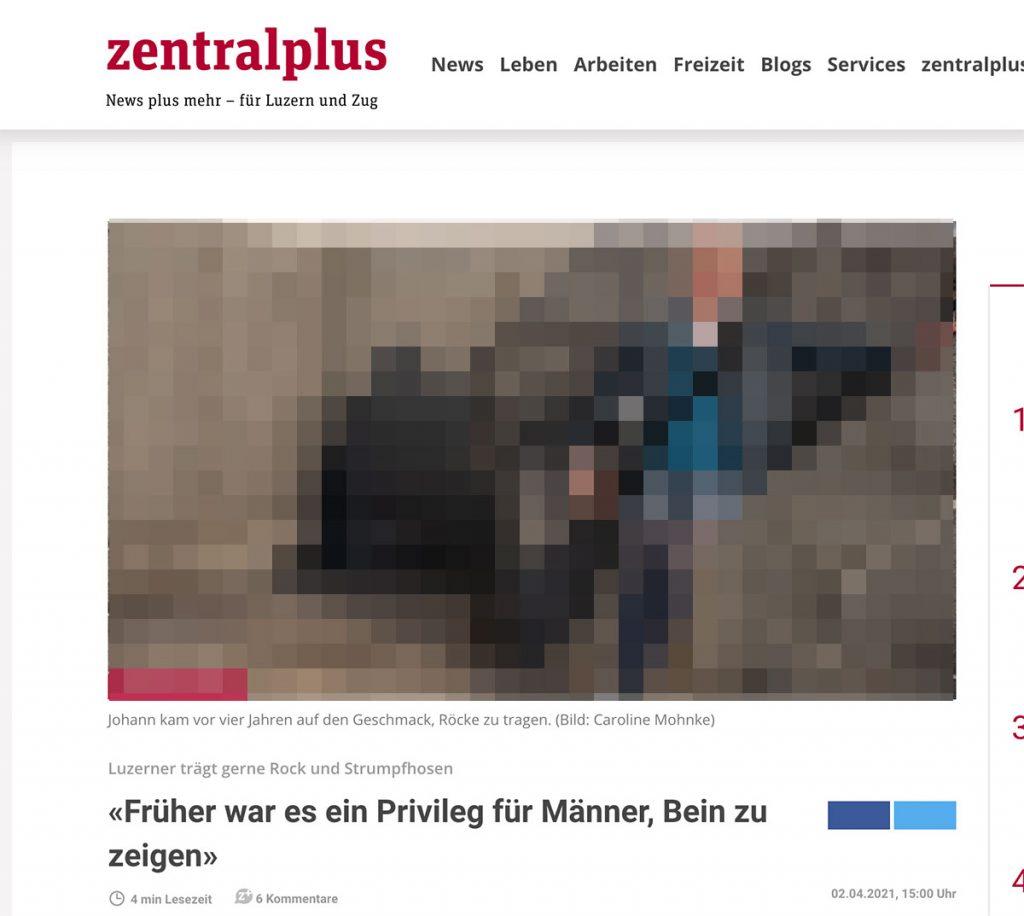 Screenshot zentralplus.ch