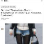 """""""Elle"""" will den Jeansshorts-Trend nicht"""