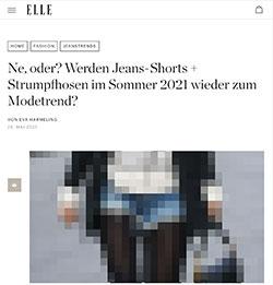 Elle und das Thema Jeansshorts