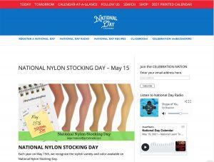 Screenshot National Nylon Stockings Day