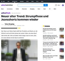 Jeansshorts und Strumpfhosen als neuer Trend
