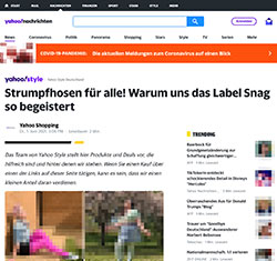 Screenshot Yahoo Style