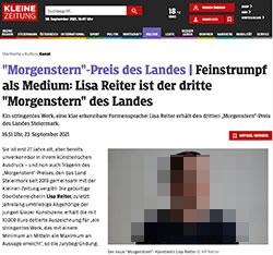 Screenshot von kleinezeitung.at